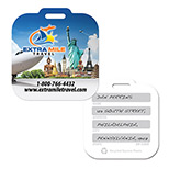 Luggage Tags in Bulk - Imprinted Mini Square Surface Luggage Tag