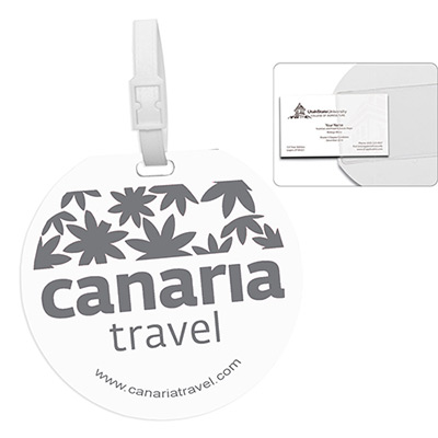 recycled jumbo round luggage tag