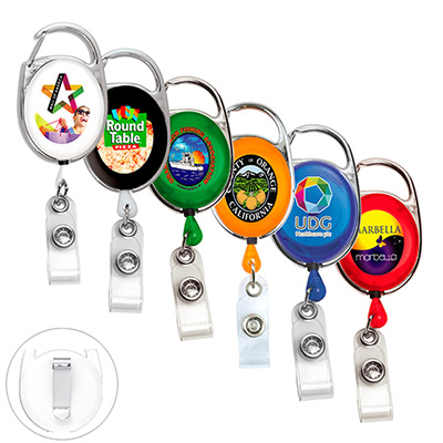 Retractable Carabiner Style Badge Reel