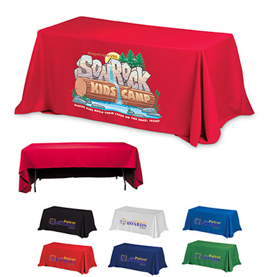 3-Sided Economy 8 ft Table Covers