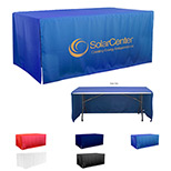 Custom 6 ft Table Covers  - Logo 3-Sided Economy 6 ft Table Covers