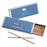 Logo Toothpicks Booklet - 10 Full-Length Toothpicks Pack