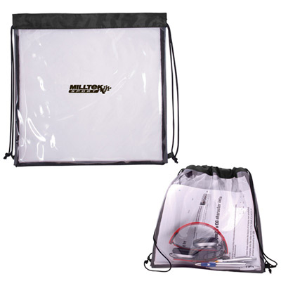 See Thru Drawstring Backpack - Small