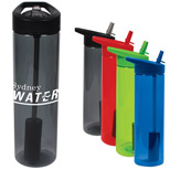 Custom 20 Oz Ms Plastic Filter Bottle - Plastic Filter Bottle with Flip Straw