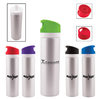 20 oz aluminum duo lid bottle