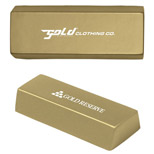 Imprinted Gold Bar Stress Reliever - Custom Gold Bar Stress Reliever