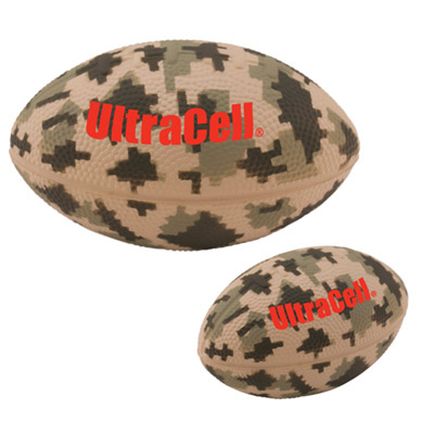 camouflage football stress reliever