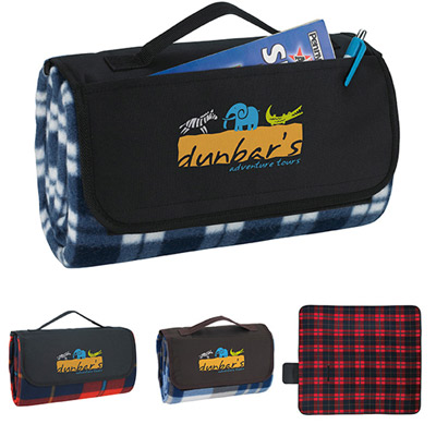roller-up picnic blanket