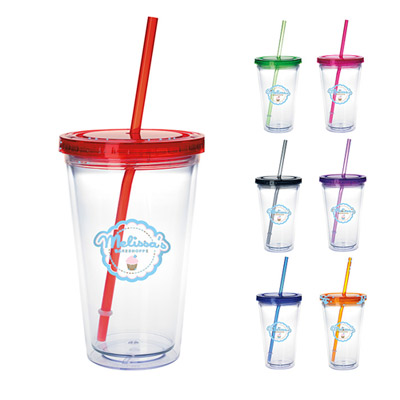 Personalized Tumbler Cups With Straws - Promo Direct