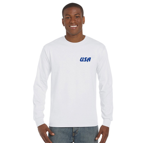 gildan® classic fit long sleeve t-shirt (white)