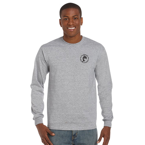 gildan® classic fit long sleeve t-shirt (heather)