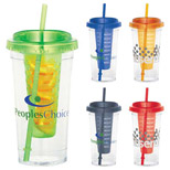 Promotional 24oz Fruit Infuser Tumbler - Bulk Logo 24oz Fruit Infuser Tumblers