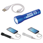 22341 - Beacon Aluminum Flashlight Power Bank