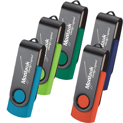 Rotate Black Clip 4GB Drive