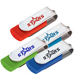 Logo Domeable Rotate Flash Drive 2GB