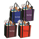 Personalized Non-Woven Two-Tone Grocery Tote - Non-Woven two-tone Grocery Tote