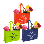 Personalized Non-Woven Shopping Tote - Custom Non-Woven Shopping Totes