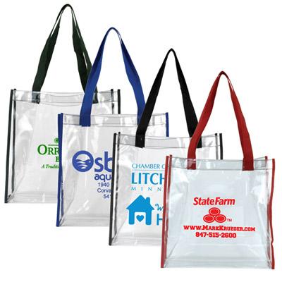clear pvc stadium tote bag