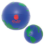 Personalized Earth Squeeze Balls - Bulk Logo Earth Squeeze Balls