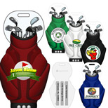 22556 - Golf Bag Shaped Luggage Tag