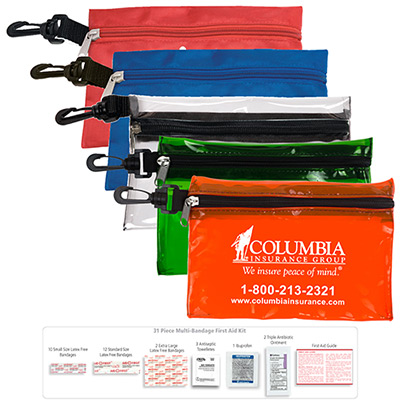 31 Piece Multi-Bandage First Aid Kit