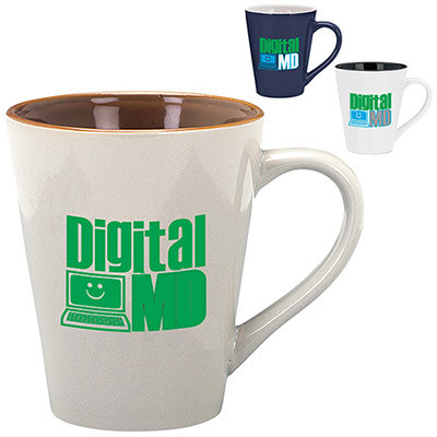 14 oz. Designer Two-Tone Mug