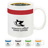 22611 - 11 oz. Color Stripe Mug