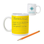 22624 - 11 oz. Notepad Mug