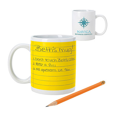 11 oz. Notepad Mug