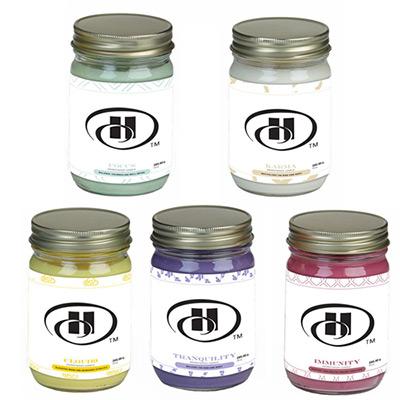 12 oz. aromatherapy candle in mason jar