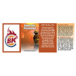 Personalized Home Fire Pocket Pamphlet - Custom Home Fire Pocket Pamphlets