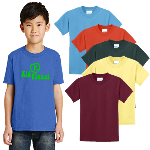 port & company® - youth core blend tee (color)