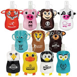 Imprinted 12oz. Paws N Claws Flat Bottle