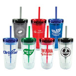 Logo Imprinted 16oz. Trans Orbit Tumblers