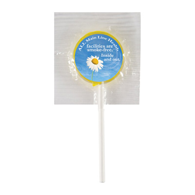 lollipop with round label