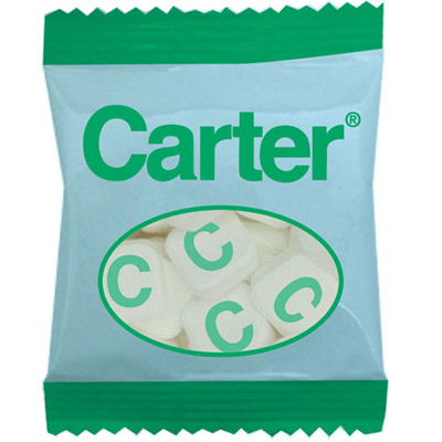 3 snack pack with printed mints