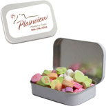 Personalized Large Mint Tin with Conversation Hearts