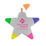 Promotional Star Highlighters - Custom Imprinted Star Highlighter