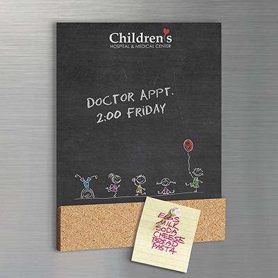 Cork Chalkboard Magnet