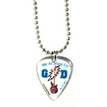 Custom Guitar Pick Ball Chain - Personalized Guitar Pick Ball Chain