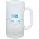 Logo 16oz. Frosted Glass Pub Stein