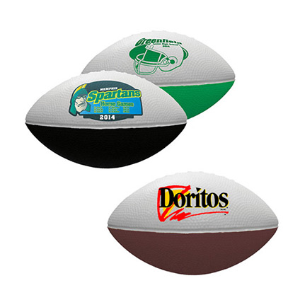7 two-toned foam football