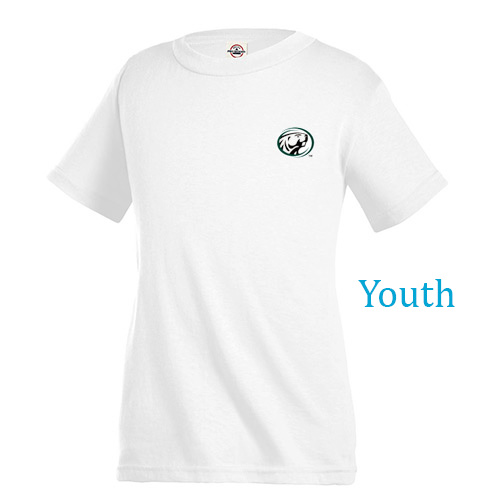 youth pro weight t -shirt 5.2 oz (white)