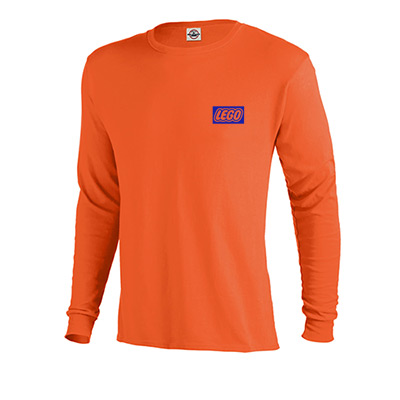 5.2 oz. pro weight long sleeve tee (colors)