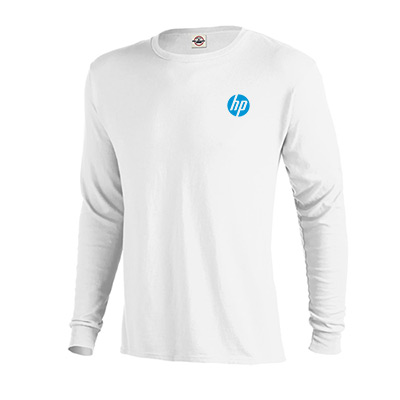 pro weight long sleeve tee 5.2 oz (white)