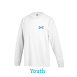 23182 - Youth Pro Weight Long Sleeve Tee 5.2 oz (White)