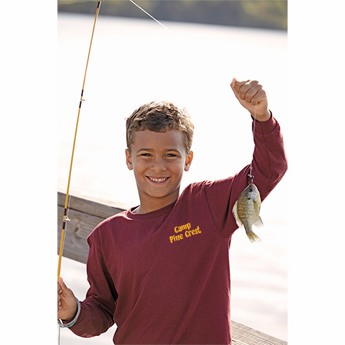youth pro weight long sleeve tee 5.2 oz (colors)