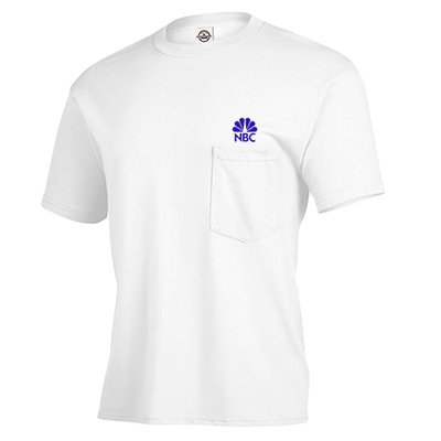adult short sleeve pocket tee 6 oz. (white)