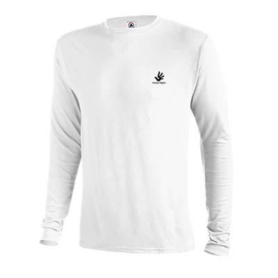 delta dri long sleeve t-shirt 4.3 oz (white)