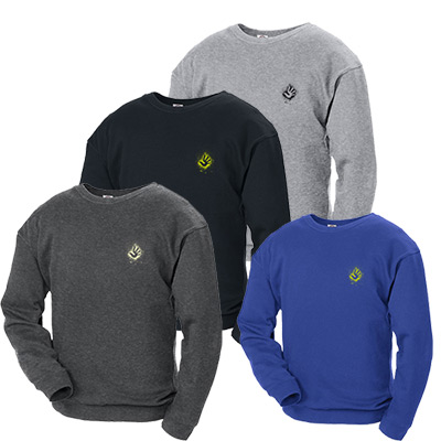 9 oz. adult crew neck fleece pullover